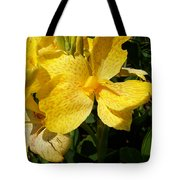 Yellow Canna Lily Tote Bag by Shawna  Rowe