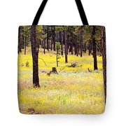 Yellow Forest Tote Bag by Kume Bryant