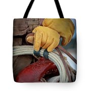 Yellow Gloves Tote Bag by Inge Johnsson