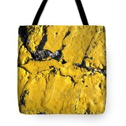 Yellow Line Abstract Tote Bag by Luke Moore