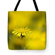 Yellow On Yellow Dandelion Tote Bag by Christina Rollo