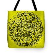 Yellow Oreo Tote Bag by Rob Hans