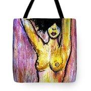 Yellow Tote Bag by Thomas Valentine