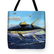 Yellowfin Crash Off0081 Tote Bag by Carey Chen