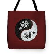 Yin And Yang Of Hibiscus Tote Bag by Chikako Hashimoto Lichnowsky