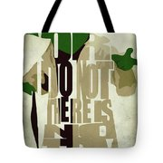 Yoda - Star Wars Tote Bag by Ayse Deniz
