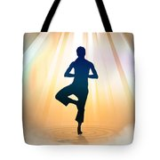 Yoga Balance Tote Bag by Bedros Awak
