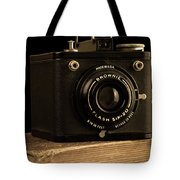 You Push The Button We Do The Rest Kodak Brownie Vintage Camera Tote Bag by Edward Fielding