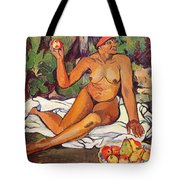 Young Half Caste Woman Tote Bag by Marie Clementine Valadon