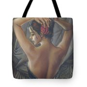 Young Woman With Luth Crop Tote Bag by Zorina Baldescu