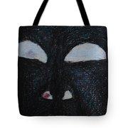 You're Standing In My Eye Tote Bag by Nancy Mauerman