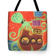 You've Been Pirated Tote Bag by Kate Cosgrove