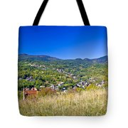 Zagreb Hillside Green Zone Nature Tote Bag by Brch Photography