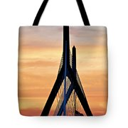Zakim Bridge In Boston Tote Bag by Elena Elisseeva