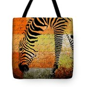 Zebra Art - Rng02t01 Tote Bag by Variance Collections