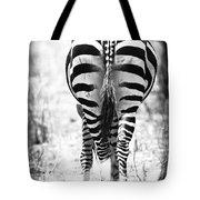 Zebra Butt Tote Bag by Adam Romanowicz