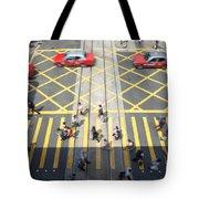 Zebra Crossing - Hong Kong Tote Bag by Matteo Colombo