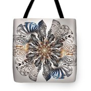 Zebra Flower Tote Bag by Anastasiya Malakhova