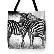 Zebra Love Tote Bag by Adam Romanowicz