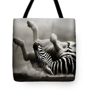 Zebra Rolling Tote Bag by Johan Swanepoel