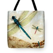 Zen Flight - Dragonfly Art By Sharon Cummings Tote Bag by Sharon Cummings