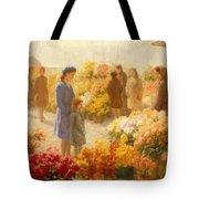 Flower Market  Tote Bag by Hendrik Heyligers