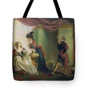 Malvolio Before Olivia - From 'twelfth Night'  Tote Bag by Johann Heinrich Ramberg