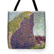 Study For Le Bec Du Hoc Tote Bag by Georges Pierre Seurat