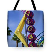 Vegas Sign Tote Bag by Garry Gay