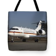 A Bombardier Global 5000 Vip Jet Tote Bag by Timm Ziegenthaler