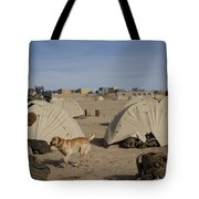 A Dog Handler And His Military Working Tote Bag by Stocktrek Images