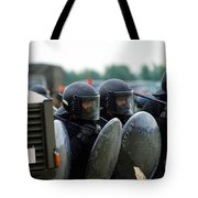 A Training Session In Riot And Crowd Tote Bag by Luc De Jaeger
