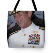 Admiral Eric T. Olson Speaks Tote Bag by Michael Wood