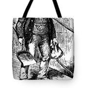 Anti-immigrant Cartoon Tote Bag by Granger