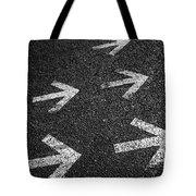 Arrows On Asphalt Tote Bag by Carlos Caetano