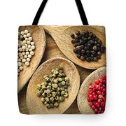 Assorted Peppercorns Tote Bag by Elena Elisseeva