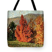 Autumn Landscape Tote Bag by Henri-Edmond Cross