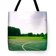 Basketball Court Tote Bag by Tom Gowanlock