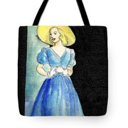 Blue Gown Tote Bag by Mel Thompson