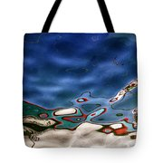 boat reflexion Tote Bag by Stylianos Kleanthous