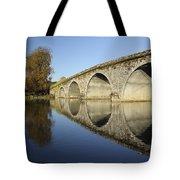 Bridge Over River Nore Bennettsbridge Tote Bag by Trish Punch