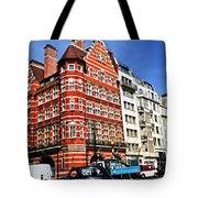 Busy Street Corner In London Tote Bag by Elena Elisseeva