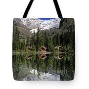Cabins, Sargents Point, Lake Ohara Tote Bag by John Sylvester