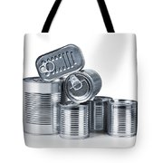 Canned Food Tote Bag by Carlos Caetano