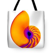 Chambered Nautilus Shell Tote Bag by Ted Kinsman