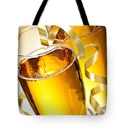 Champagne Glasses Tote Bag by Elena Elisseeva