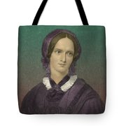 Charlotte Bronte, English Author Tote Bag by Photo Researchers