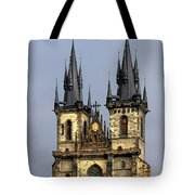 Church Of Our Lady Before Tyn - Prague Cz Tote Bag by Christine Till