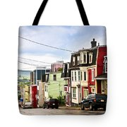 Colorful Houses In Newfoundland Tote Bag by Elena Elisseeva