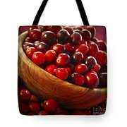 Cranberries In A Bowl Tote Bag by Elena Elisseeva